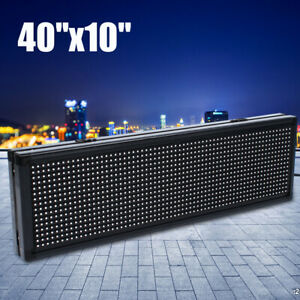 Led Sign 40 X10 full Color Semi Outdoor Programmable Scrolling Message Board