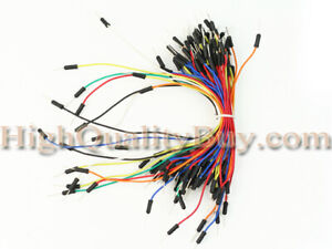 65pcs Male To Male Solderless Flexible Breadboard Jumper Cable Wire Good Quality