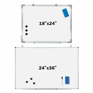 18 36 X 24 Magnetic Whiteboard Dry Erase White Board Wall Hanging Office Home