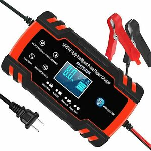 Automotive Battery Charger 12v 8a 24v 4a Trickle Smart For Car Motorcycle Boat