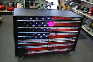 Matco 4s Double Bay 25 Toolbox Usa Wrap Wpower Usb Outlets