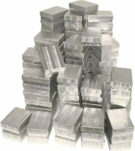 300 Silver Foil Cotton Filled Jewelry Boxes 3 1 4 X 2 1 4