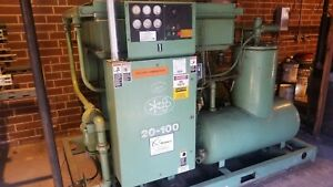 Sullair 100hp Rotary Screw Air Compressor 20 100l 110 Psig 480v 3phase