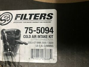 S B Filters 75 5094 Cold Air Intake For 2003 2007 Dodge Ram Cummins 5 9l
