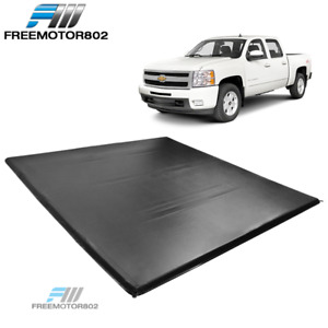 Fits 07 13 Chevy Silverado 1500 5 8 Ft Truck Bed Four 4 Fold Tonneau Cover