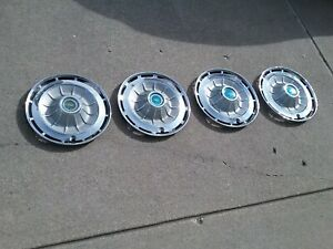 Lot Of 4 Original 1962 Chevy Impala Bel Air Biscayne 14 Hubcaps Wheel Covers