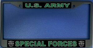 U S Army Special Forces Chrome License Plate Frame