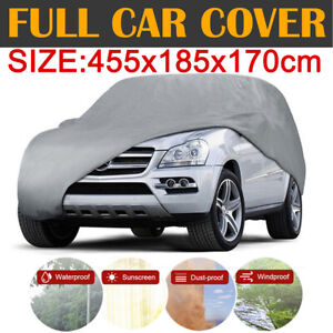 M Size Universal Full Car Cover Dust Uv Resistant All Weather Protection For Suv