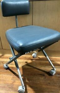 Aseptico Stool Chair Portable W Storage Carry Bag Tote Folding Mobile Dentist