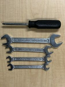 Vintage Toyota Motor Metric Wrench And Screwdriver Set Made In Japan