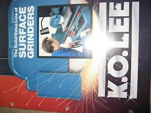 K O Lee Manual Surface Grinders 16 Pgs Technical Data Std Equipment Mint