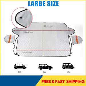 Thick Car Windshield Cover Protector Winter Snow Ice Rain Frost Guard Sun Shade