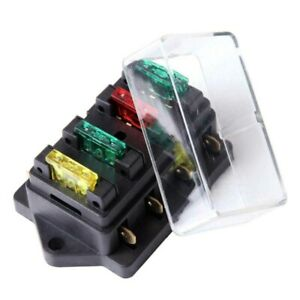 4 Way Fuse Holder Box Block Car Vehicle Circuit Automotive 12v 24v Mini Blade