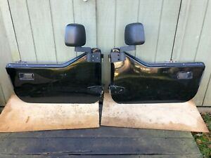 Jeep Wrangler Half Doors Yj Cj7 Factory Steel Door Oem Black Newer Mirrors