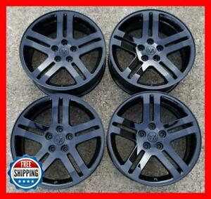 Dodge Charger Magnum 2005 2007 Oem Factory Wheel Set 18 Rims 2248 Black s