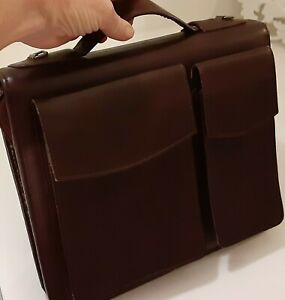 Classic Desk 1 5 Day Timer Burg Leather Zip Briefcase Binder Franklin Covey