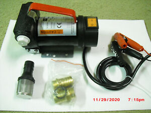 Actp40 12v New Portable Dc Electric Fuel Transfer Pump Diesel Kerosene Oil Pump