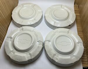 Vtg Lot Set Of 4 3 4 Ton Chevy Pickup Truck 1967 1972 Dog Dish Hubcaps Chevrolet