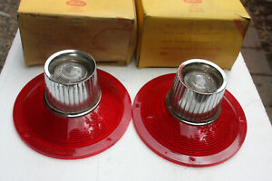 Nos 1964 Ford Galaxie Tail Light Lens Pair With Back Up Assembly New In The Box