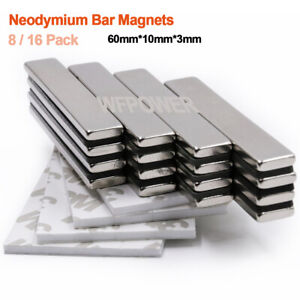 Wfpower Strong Neodymium Rare Earth Bar Magnets With Adhesive Backing Powerful