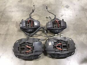 Porsche 911 964 89 94 Brake Calipers Front Rear Pair Working Set Brembo