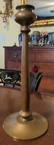 Antique Brass Bronze Candleholder Secessionist Style