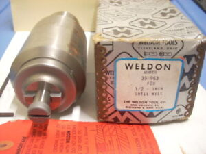 Weldon milling machine Adapter 39 963 For 1 2 Shell Mill new Old Inventory