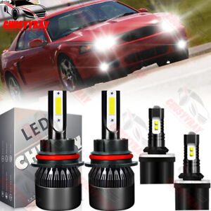 4x Led Headlight Fog Light Bulbs Kit 6000k For Ford Mustang Gt Svt Cobra 1999 03