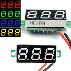 Dc 2 4 30v 2 wire Voltmeter 3 digit Led Display Panel Volt Meter Voltage Tester