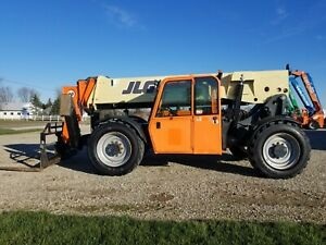 2012 Jlg G10 55a Enclosed Cab Forklift Telescopic Financing Outriggers