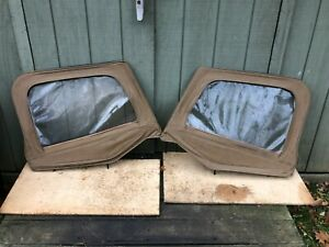 Jeep Wrangler Yj 87 95 Soft Top Half Door Upper Pair Tan Vinyl Hardtop Softop