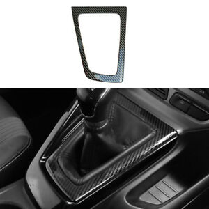 Carbon Fiber Color Steel Gear Shift Panel Cover Fit For Ford Focus 2012 2014 Rhd