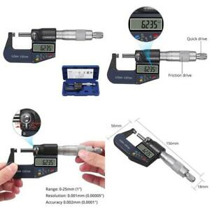 Proster 0 25mm Multifunction Digital Micrometer 0 001mm Electronic Micrometer Ca