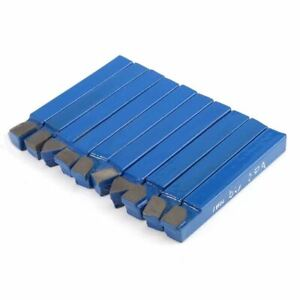 10pcs Blue Carbide Lathe Tool Bit 1 4 Metal Tip Tipped Cutter Set For Tools