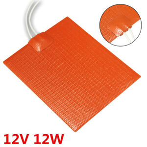12v 12w Silicone Rubber Heating Panel Tool For 100 120mm Plate Heater