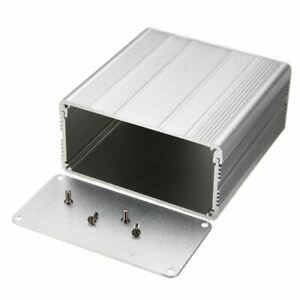 1pc Aluminum Enclosure Case Silver Diy Electronic Project Pcb Instrument Box May