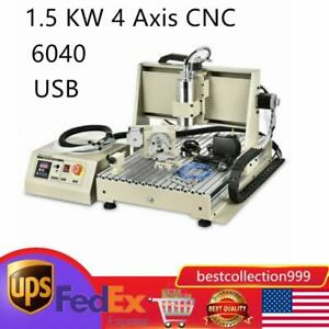 1 5 Kw 4 Axis Cnc Router 6040 Machine Vfd 5a Axis Milling 1605 Ball Screw Usb