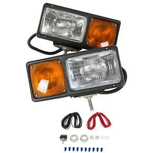 Truck Snow Plow Light Headlight Lamp Turn Signal Snowplow Replacement Universal