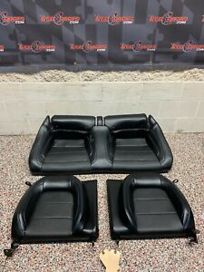 2020 Ford Mustang Gt Oem Rear Seats Black Leather Blue Stitch