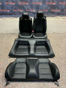 2016 Ford Mustang Gt Oem Black Leather Front Rear Seats Convertible