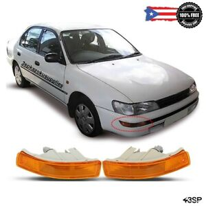 Fits 93 97 For Toyota Corolla Jdm Front Bumper Light Short Lamp Replacement Set