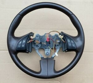 2012 Fiat 500 Steering Wheel Leather W Switches Brown Oem