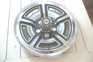 Oe Vintage 15 Inch 66 68 Ford Galaxie Ltd Mustang 5 Slot Exposed Lugnut Hubcap