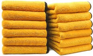 Car Wash Microfiber Towel Auto Cleaning Drying Cloth Hemming Super Absorbent X 2
