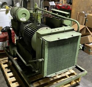 Used 40 hp Sullair Ls 10 40 Rotary Air Compressor 230 460v