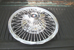 Oe Vintage 15 Inch 65 67 Buick Wire Wheelcover W 2bar Spinner Unrestored