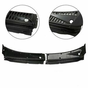 For Ford F250 F350 Excursion Windshield Wiper Vent Cowl Screen Cover Panels Kit