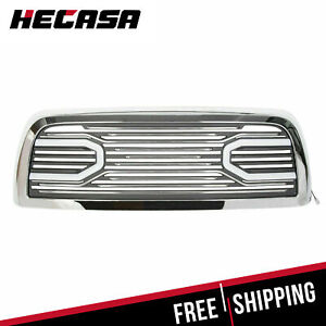 For 10 18 Dodge Ram 2500 3500 Big Horn Chrome Grille Replacement Shell Lights