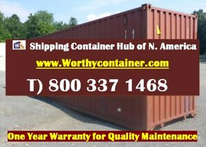 40 Cargo Worthy Shipping Container 40ft Storage Container In Miami Fl