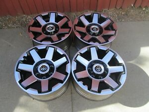 17 Toyota 4runner Tacoma Fj Trd Oem Factory Oem Wheels Black Rims Pro With Caps
